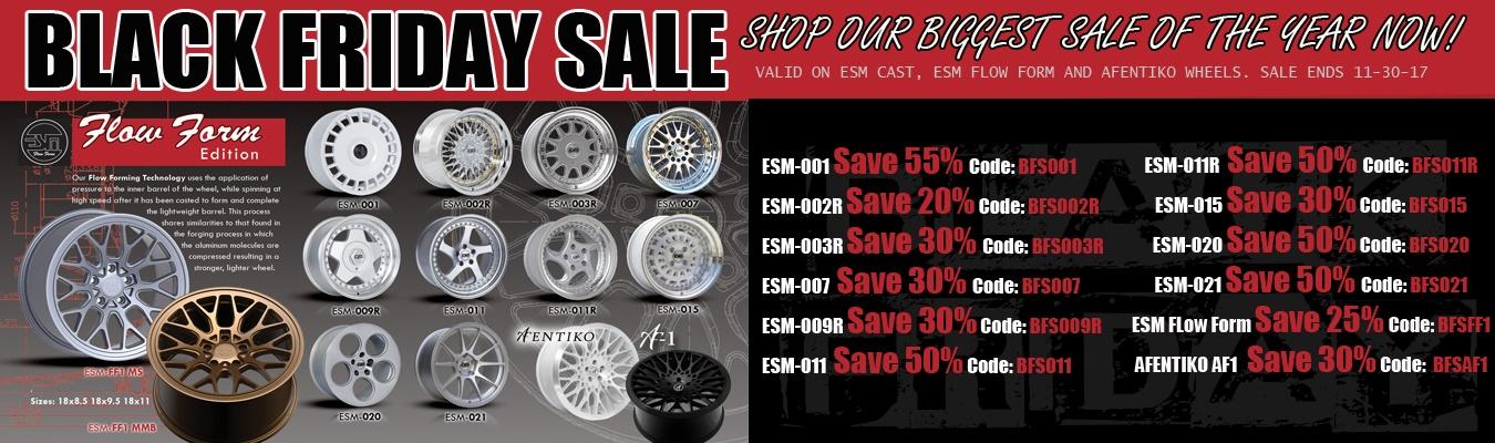 black fride esm wheels sale
